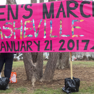 Women's March in Asheville January 21, 2017